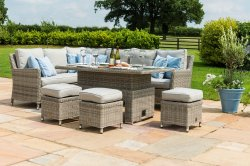 Maze Rattan Oxford Corner Dining Set With Dual Position Table