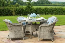 Maze Rattan - Oxford 4 Seat Round Dining Set