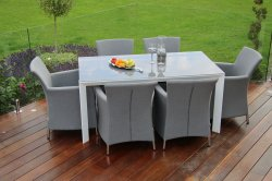 Maze Rattan - Soul Dining Set All Weather Fabric - Grey