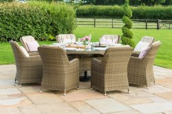 Maze Rattan - Winchester 8 Seat Round - With Venice Chairs