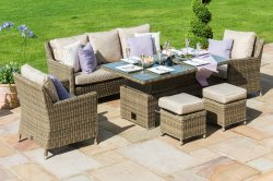 Maze Rattan - Winchester Sofa Dining Set (Dual Position Table) with Ice Bucket