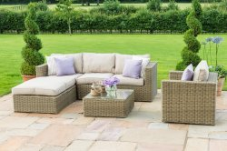Maze Rattan - Winchester Chaise Corner With Chair