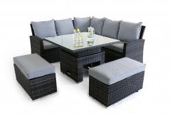 Maze Rattan - Richmond Corner Dining Set (with dual position table)