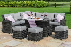 Maze Rattan - Kingston Corner Dining Set With Dual Position Table