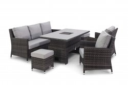 Maze Rattan - Venice Sofa Dining Set With Dual Position Table