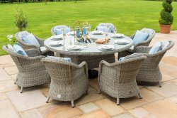 Maze Rattan - Oxford 8 Seat Round Dining Set With Round Chairs