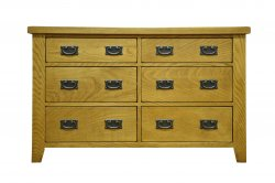 Stafford Bedroom 6 Drawer Chest