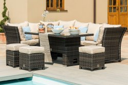 Maze Rattan Henley Corner Dining Set with Rising Table
