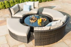 Maze Rattan Chelsea Lifestyle Suite with Glass Table Top