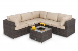 Maze Rattan - Porto Corner Sofa Set With Ice Bukcet