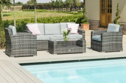 Maze Rattan Kingston 3 Seater Sofa Set