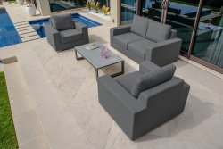 Maze Rattan - Zen 2 Seat All Weather Fabric Sofa Set