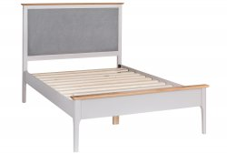Nordby Painted Bedroom Single Bed Frame with Padded Headboard