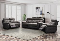 HP Collection - Paris Reclining Sofa Range - Grey