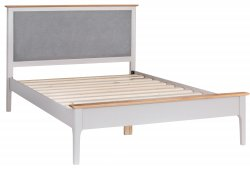 Nordby Painted Bedroom King-size Bed Frame with Padded Headboard