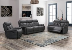 HP Collection - Bentley Reclining Sofa Range - Grey