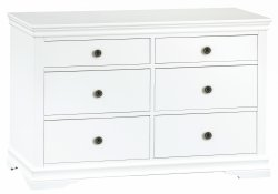 Swanley White Bedroom 6 Drawer Chest