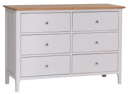 Nordby Painted Bedroom 6 Drawer Chest