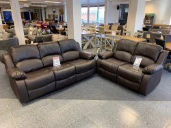 Milan 3+2 Reclining Sofa Set - Chocolate