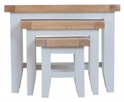 Kettering Grey Dining & Occasional Nest of 3 Tables