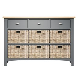 Garton Grey Dining & Occasional 3 Drawer 6 Basket Unit