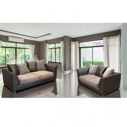 Antwerp 3+2 Sofa Set - Brown Fabric