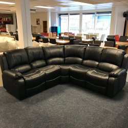 Washington Black Reclining Corner Sofa