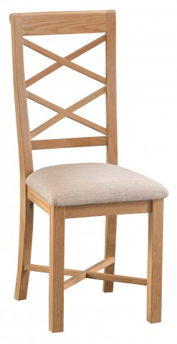Classic Warwick  Dining & Occasional Double Cross Back Chair with Fabric Seat