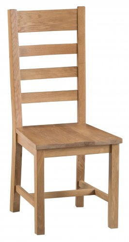 Classic Oakmont Dining & Occasional Ladder Back Chair with Wooden Seat