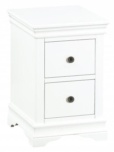 Swanley White Bedroom Bedside Cabinet