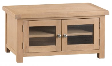 Light Oakmont Dining & Occasional Standard TV Unit with Glass Doors