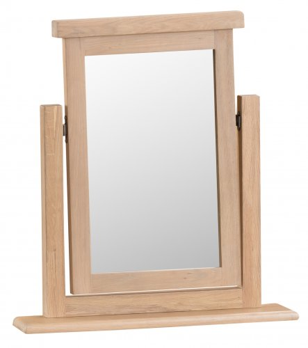 Light Oakmont Bedroom Trinket Mirror