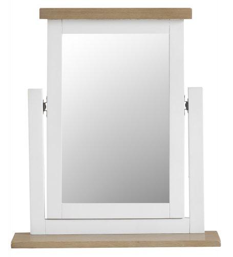 Kettering White Bedroom Trinket Mirror