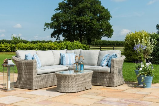 Maze Rattan Oxford Small Corner Group